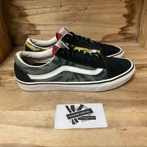 Vans off the wall low top green yellow red black white fashion sneakers shoes